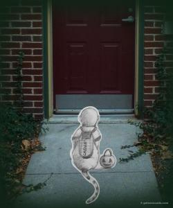 GA_Astronaut at door. Halloween
